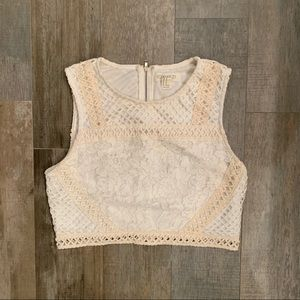 Crochet sleeveless crop top